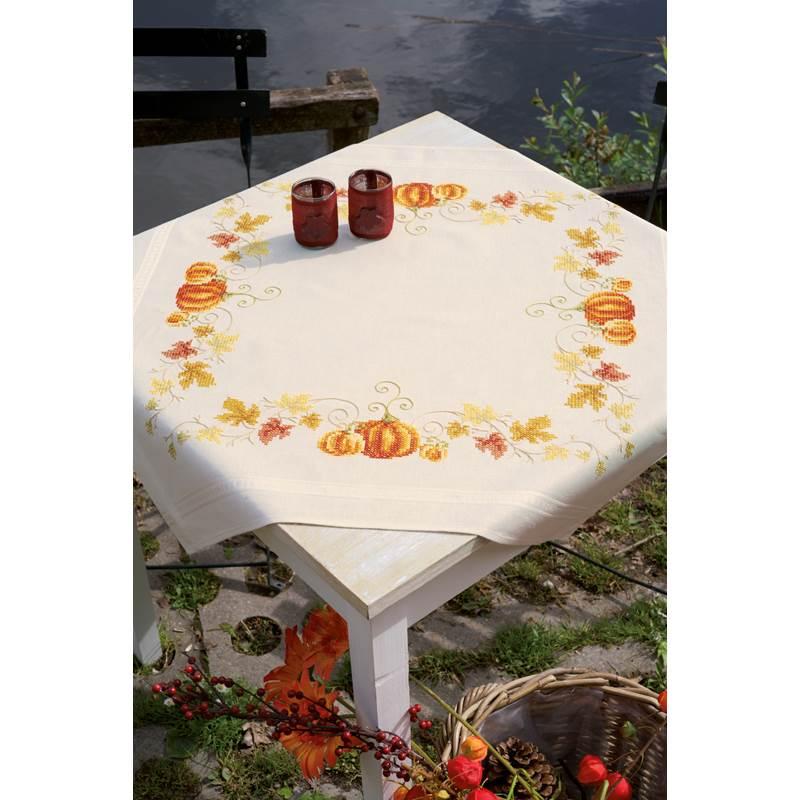 nappe broder citrouilles vervaco pn 0147423 chez univers broderie. Black Bedroom Furniture Sets. Home Design Ideas