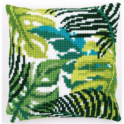 Feuilles - kit Coussin gros trous - Vervaco