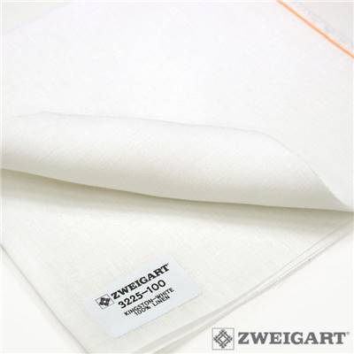 Toile Zweigart lin Kingston 22 fils Blanc (100)