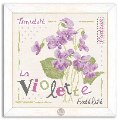 La Violette - Fiche point de croix J007 - Lilipoints