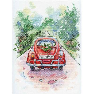 Just Married - Kit point de croix - Aquarelle MP Studia