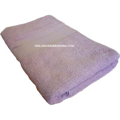 eponge broder drap de bain 70x140 cm lilas univers broderie. Black Bedroom Furniture Sets. Home Design Ideas