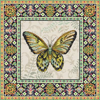 Vintage Butterfly - Kit point de croix - LETISTITCH
