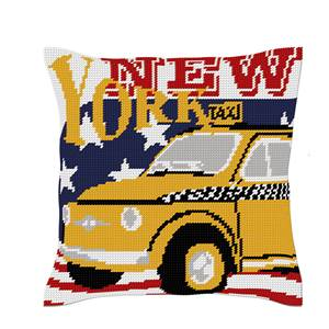 Taxi New Yorkais - Kit coussin gros trous - Luc Créations