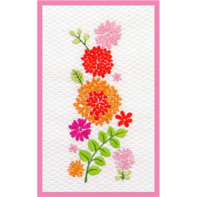 Frise de Fleurs 2 (kit broderie traditionnelle) - Princesse